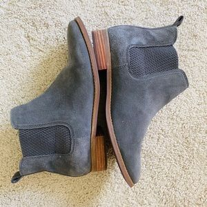 Toms grey ankle booties